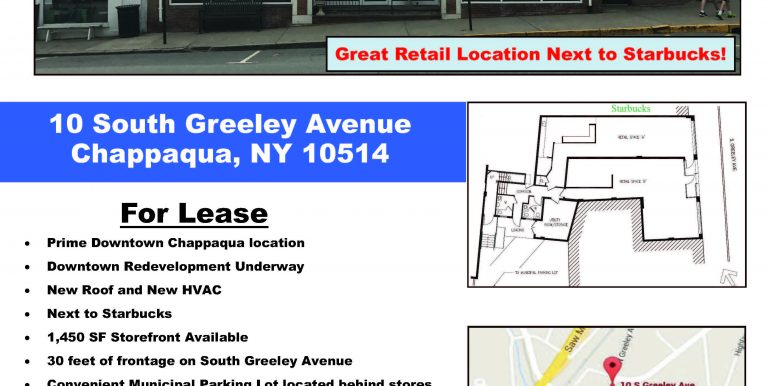 Flyer for 10 S Greeley