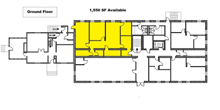 Skyline Ground Floor 1550 sq ft Available Space