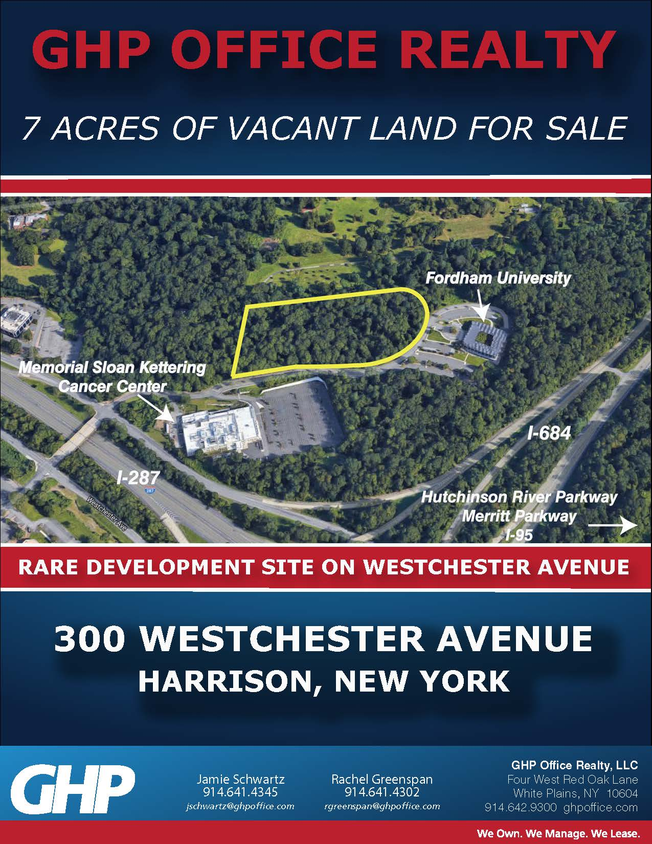 300 Westchester Avenue, Harrison, New York – 7 ACRES AVAILABLE FOR SALE